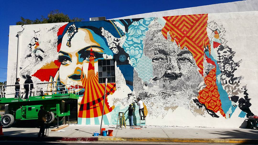 vhils » Vhils & Obey unveil second collab in LA